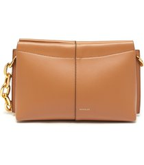 'carly' heavy chain mini leather shoulder bag