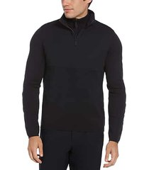 perry ellis motion men's classic fit quarter-zip sweater navy - size: small
