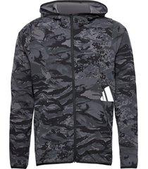 fl 3bar camo fz hoodie svart adidas performance