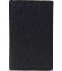 leather business card holder - black