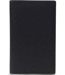 leather business card holder - black