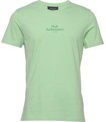 m original light tee t-shirts short-sleeved grön peak performance