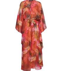 kaftan maxiklänning festklänning röd ilse jacobsen