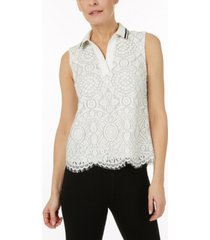 laundry by shelli segal sleeveless lace top