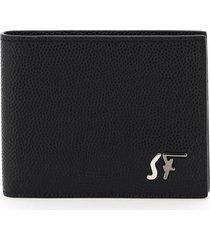 salvatore ferragamo bifold wallet with signature