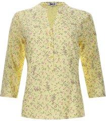 blusa m3/4 print ramillete flores color amarillo, talla s