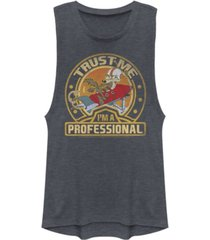 fifth sun looney tunes wile e. coyote trust me i'm a professional festival muscle women's tank