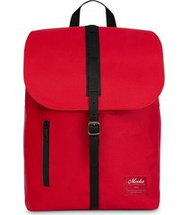 mochila roja mooka impermeable