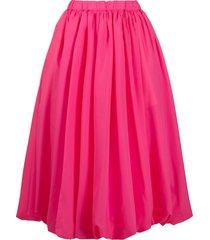 comme des garçons pleated mid-length skirt - pink