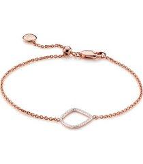 rose gold riva diamond kite chain bracelet diamond