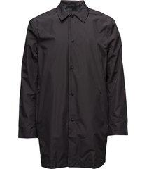 w&b coat montana dunne lange jas zwart les deux