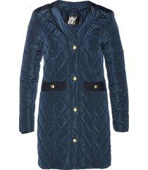 giacca trapuntata lunga (blu) - bpc selection