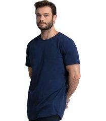 camiseta azul marinho longline 100% algodão di nuevo
