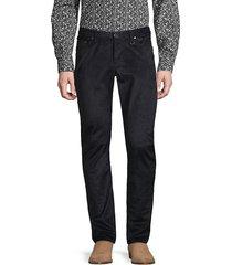 john varvatos men's chelsea corduroy slim straight jeans - navy - size 33