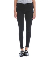 women's kut from the kloth mia high waist super skinny jeans, size 16 - black