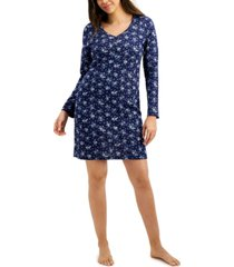 charter club long-sleeve cotton nightgown, created for macy's