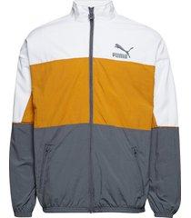 retro woven track jacket sweat-shirt tröja gul puma