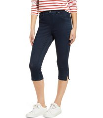 women's hue ultrasoft high waist capri denim leggings, size small - black