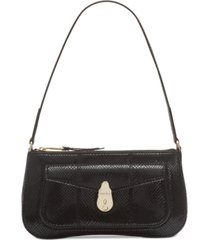 calvin klein lock leather demi shoulder bag