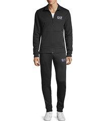 2-piece cotton-blend track jacket & pants set