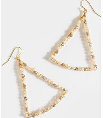 catalina beaded triangle earrings - pale pink