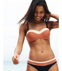 colourblock underwire bandeau bikini top b-g