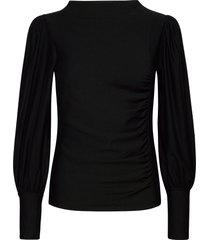 rifagz puff blouse blouse lange mouwen zwart gestuz
