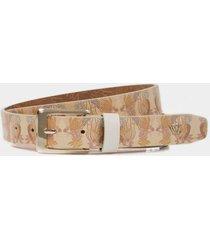 cinturón unifaz evro de cuero para mujer estampado floral