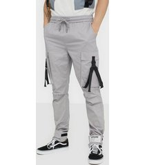 sixth june strap pants byxor light grey