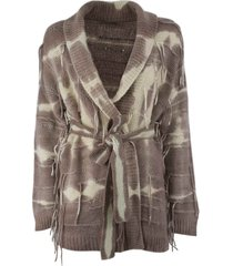 canessa cashmere belted cardigan