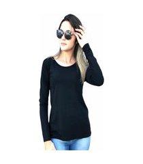 blusa segunda pele preto