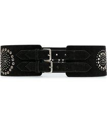 10 corso como studded suede belt - black