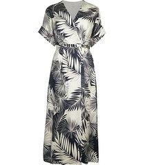 tavine silk print midi dress