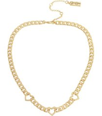jessica simpson heart link collar necklace