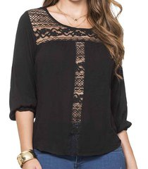 blusa alissa negro para mujer croydon