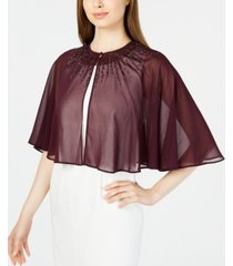 calvin klein beaded chiffon cape