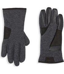 smart mixed-media gloves