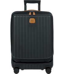 men's bric's capri 2.0 21-inch expandable rolling carry-on - black