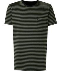 osklen striped print reversible t-shirt - black
