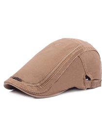 cappello da uomo in avanti da uomo in cotone lavato con ricamo in cotone