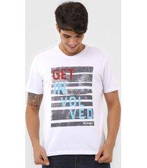 camiseta wrangler get involved branca - branco - masculino - algodã£o - dafiti