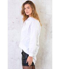 lange katoenen blouse wit