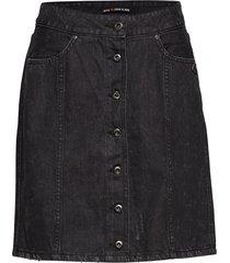 black denim pencil skirt kort kjol svart scotch & soda