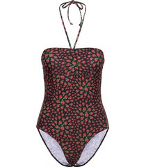 raspy bandeau swimsuit baddräkt badkläder svart becksöndergaard