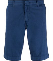 fay bermuda cotton shorts - blue