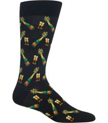 hot sox men's socks, champagne crew