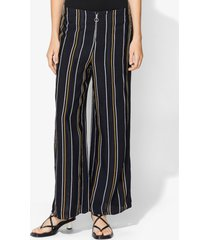 proenza schouler crepe striped pants black 2