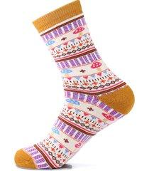 cotone spessa, caldo e carino, per donna calze casual calze, elastico alto traspirante calze