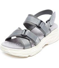sandalia gris via rosmini