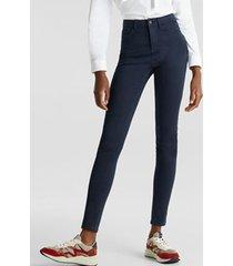 jeans skinny medium rise azul marino esprit